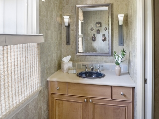 Bathroom utilizing Transitional Interior Design