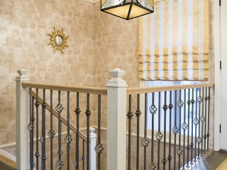 Foyer utilizing Transitional Interior Design