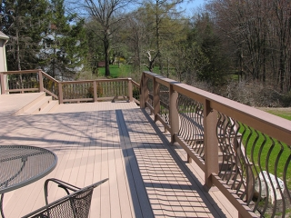 A custom designed deck from Boston Design and Interiors